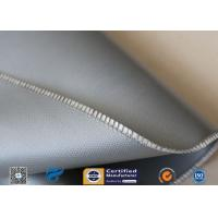 Grey 0.5mm 510g Silicone Coated Fiberglass Fabric For Expansion Joint Manufactures
