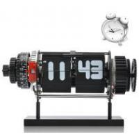 China Black Electro Mechanical Flip Clock on sale