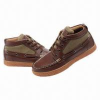 Men's Casual Shoes/Boots, Made of Leather Manufactures