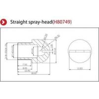 Anti Static Nozzle Ionizer Accessories , Static Eliminator Gun Straight Spray Head Manufactures