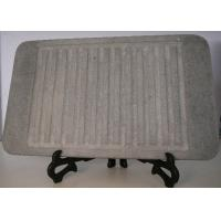 Buy cheap 32x25cm Stone Grill Plates , Rectangular Stone Cooking Plate With Groove from wholesalers