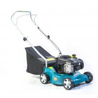 Blue Color Patent Design Petrol Driven Lawn Mowers 125cc 6 Inch 45l  Catcher Volume Manufactures