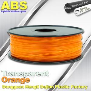 ABS Desktop 3D Printer Plastic Filament Materials Used In 3D Printing Trans Orange Manufactures