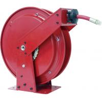 Hydraulic Oil Retractable Hose Reel Red Color High Power Force Long Distance Manufactures