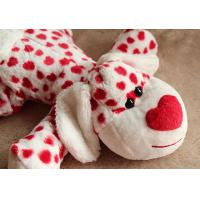 Lovely Valentines Day Stuffed Toys / Animal Dog Stuffed Push Toys For Celebration 35cm Manufactures