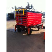 China 480KG 4.5M Mobile Scissor Lift Table With Wheels , Industrial Lifting Equipment on sale