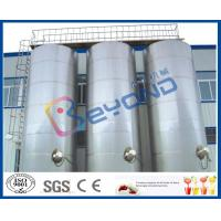Large Outdoor Stainless Steel Storage Tanks / SUS304 SUS316 Stainless Steel Dairy Equipment Manufactures