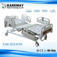 Luxurious Plastic Guard Rails Electric Care Bed Five Functions with Central Brake For ICU Room Manufactures