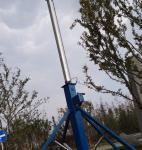 টেলিস্কোপিক মাস্ট telescopic mast 6m 9m aluminum mast light weight telescoping pole  hand push or winch up Manufactures