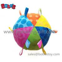 Safety Plush Baby Ball Toy Stuffed Infant Ball Toy With Ribbon Manufactures