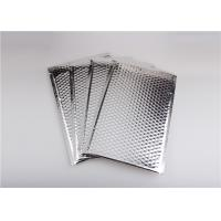 Self Seal Silver Metallic Bubble Mailers , Bubble Wrap Envelopes Recyclable Manufactures