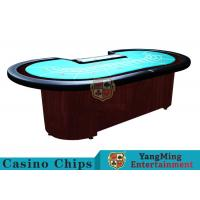 Baccarat Standard Casino Poker Table / 80 Inch Large Poker TableFor 9 Players Manufactures