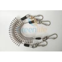 Core Reinforced Coil Tool Lanyard 1.5 Meters With Stainless Steel Clips Manufactures