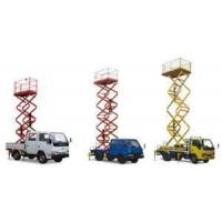 Yellow Self walking mobile lifting platforms 10m Height / hydraulic scissor lift Manufactures