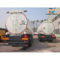 China High Pressure 12 Tires ISO CCC Q235 40KL Oil Tank Trailer on sale