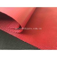 Solution Dyed Red Coating Waterproof Oxford Fabric For Bag And Luggage