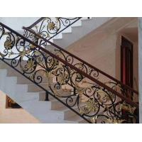 Hot Dipped Galvanized Exterior Wrought Iron Stair Railings , Cast Iron Handrail Manufactures