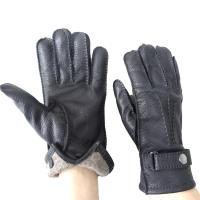 Fashion Deerskin Leather Shearling Gloves Classic Style Customized Size Manufactures
