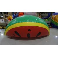 Quality Personalised Fruit Shaped Balloons , 1.2m Long Inflatable Watermelon Slicer for sale