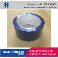 China Blue / Red Security Seal Tape , 25 Microns Tamper Evident Sealing Tape on sale
