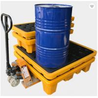Poly Drum Spill Containment Pallets For 200L Oil Tank , 4 drum spill containment plastic pallets Manufactures