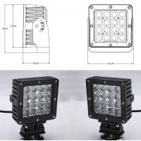 80 Watt Vehicle LED Work Lights with Die Casting Aluminum Body IP68 Manufactures