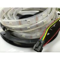 China Flex RGB Led Decorative Strip Lights Dimmable 60led/m Build in IC Addressable on sale