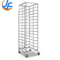 Baking Aluminum Tray Trolley High Trolley With Guides Bakery And Pastry Trays Use Manufactures