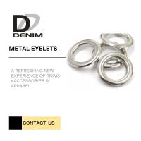 Silver Color Metal Eyelet Rings Washable Test Passable Quality CPT Dhaka Manufactures
