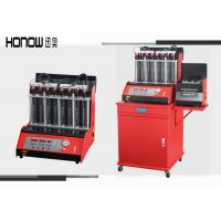 Car Automatic Ultrasonic Fuel Injector Cleaning Machine 8 Cylinders 250W Power Manufactures