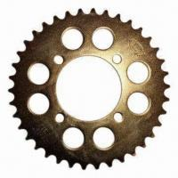 Motorcycle Sprocket, Made of SAE1023 Steel, OEM Services are Provided Manufactures