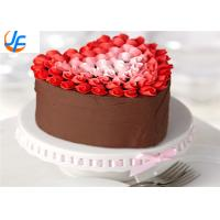 142*134*55 Aluminum cake mould Heart Shaped Metal Cake mould with Removeable Bottom Manufactures