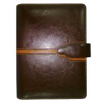 China Luxury leather notebook with sewing on sale