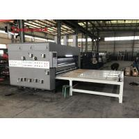 Quality Semi Auto Corrugated Cardboard Base Water - Ink Printing With Slotting Machine for sale
