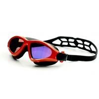 Fashionable Swimming Goggles Red Color , Waterproof Swim Goggles With UV Shield Manufactures