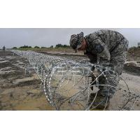 Stainless Steel Concertina Razor Wire High Strength Customized BTO-30 BTO-65 Manufactures