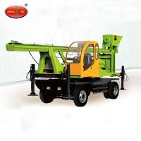 China Hydraulic Spiral Screw Pile Driver Mini Mobile Pile Drilling Rig on sale