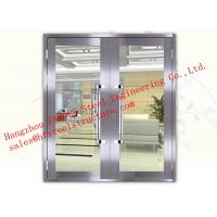 Galvanized Steel Fireproof Aluminum Frame Glass Double Doors For Shopping Mall Manufactures