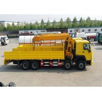 Buy cheap 8x4 50 - 60 Tons Truck Mounted Crane SINOTRUK HOWO Chassis 266HP Engine from wholesalers