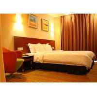 Buy cheap Hotel Project Apartment Sized Furniture Double Walnut Finish Beds from wholesalers