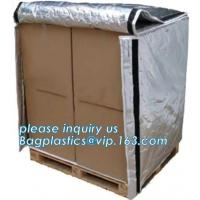 China Aluminum Foil Bubble Insulation Material Vapour Battier Pallet Cover, Thermal insulated pallet blankets, on sale