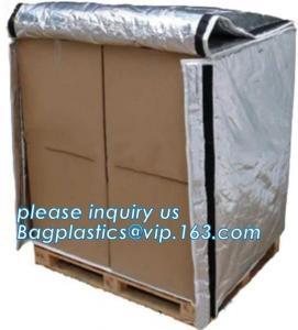 Aluminum Foil Bubble Insulation Material Vapour Battier Pallet Cover, Thermal insulated pallet blankets, Manufactures