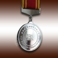 Famous Company Souvenir Silver Medal With LOGO and Ribben Manufactures