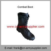 China Wholesale Cheap China Military Black Leather Army Police DMS Combat Boot on sale