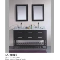 Double Mirrors MDF Bathroom Vanity , Vanity Dresser With Drawers American Style Manufactures