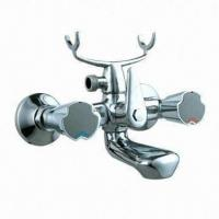 Bathtub Faucet/Tap Mixer with 40mm Ceramic Cartridge, Brass Body and Zinc Alloy Handle Manufactures