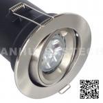 China GU10 Aluminium Centre Tilt LED Fire Rated Downlight - Satin Nickel Color