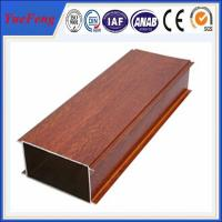 Hot Sale Wood Grain Aluminium Alloy Pipes, aluminum tubes extrusion Manufactures