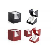 Presentation Gift Paper Watch Box Black / Red Custom Logo Color High - Grade Manufactures