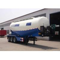 Three Axles Cement Tanker Semi Trailer 35 - 45 CBM For Transport Dust Material Manufactures